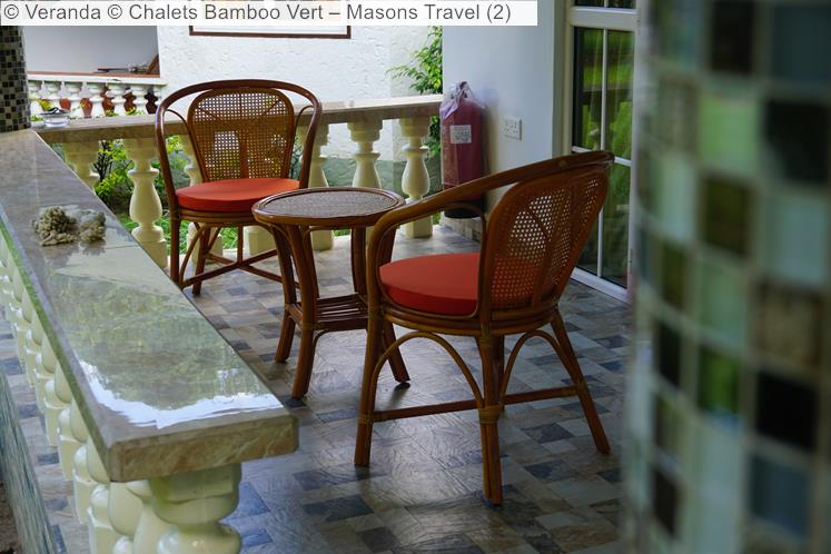 Veranda © Chalets Bamboo Vert – Masons Travel