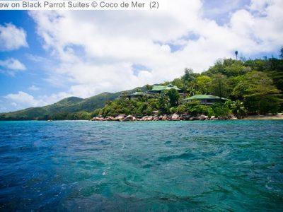 gezicht opBlack Parrot Suites Coco de Mer