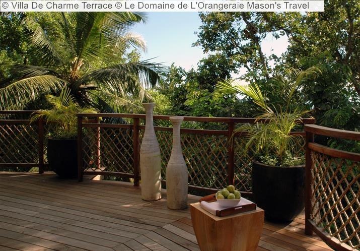 Villa De Charme Terrace Le Domaine de LOrangeraie