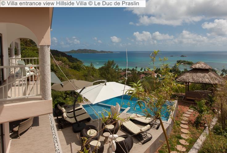 Villa entrance view Hillside Villa Le Duc de Praslin