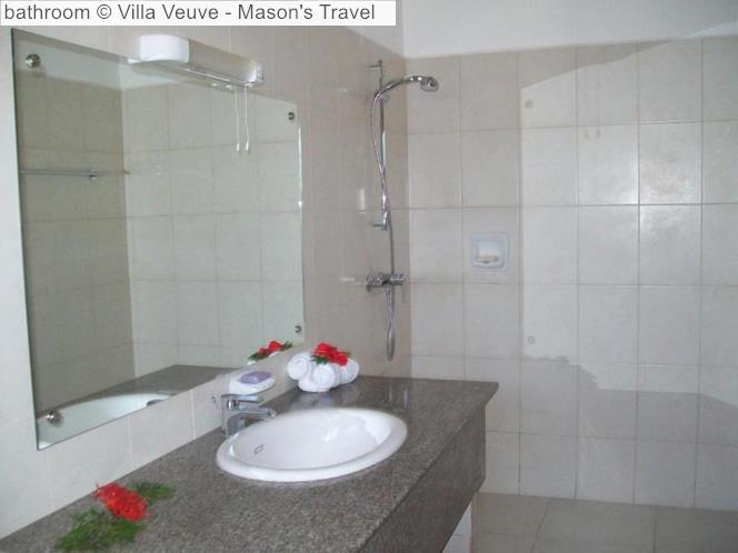 Bathroom © Villa Veuve Mason's Travel