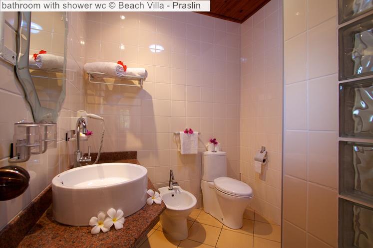 Bathroom With Shower Wc © Beach Villa Praslin