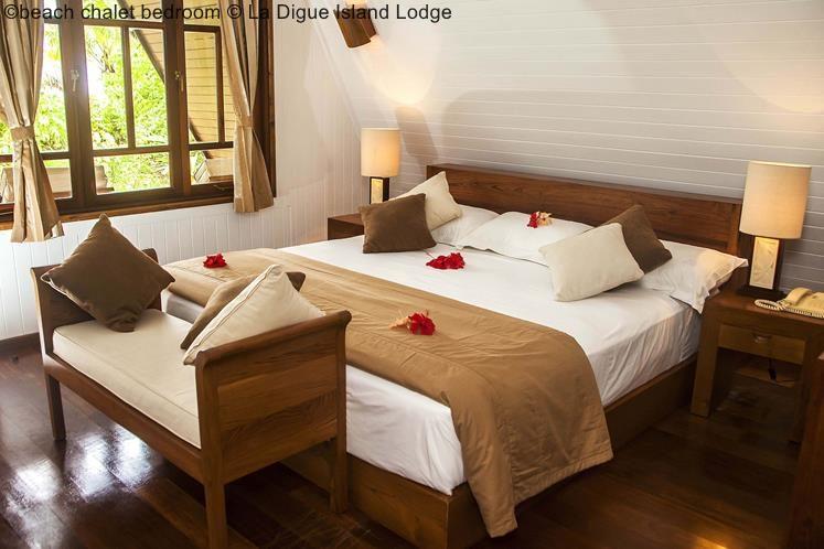 Beach Chalet Bedroom © La Digue Island Lodge