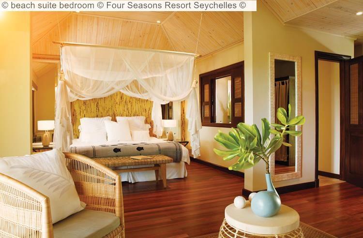 beach suite bedroom Four Seasons Resort Seychelles