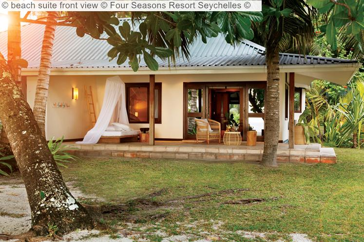 Beach Suite Front View © Four Seasons Resort Seychelles ©