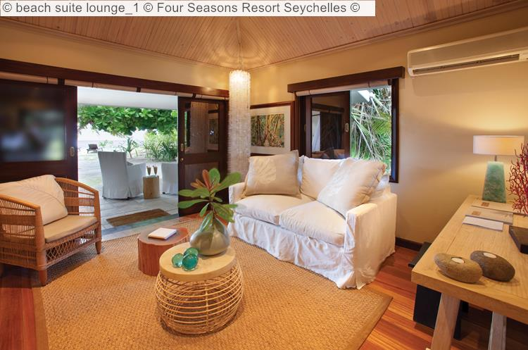 beach suite lounge Four Seasons Resort Seychelles