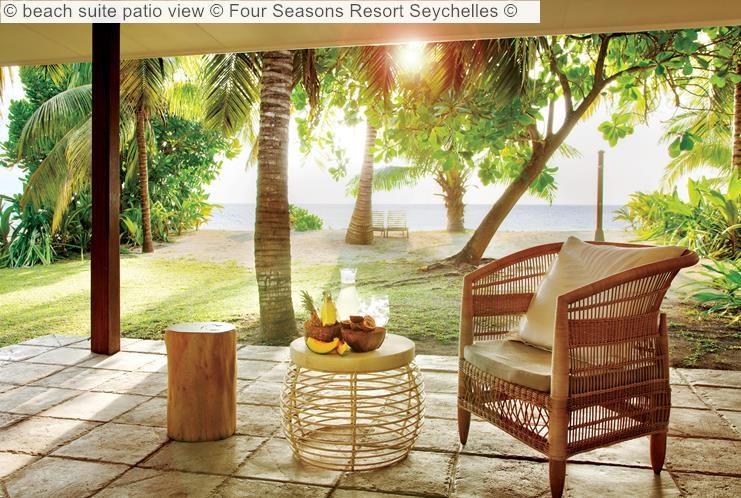 beach suite patio view Four Seasons Resort Seychelles