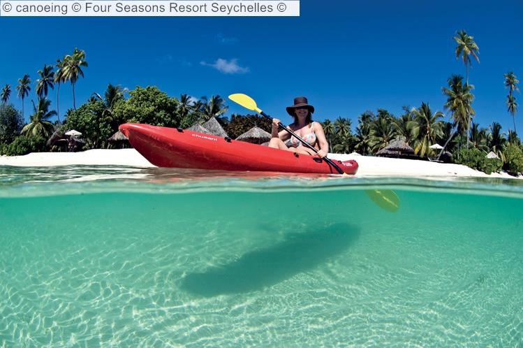 canoeing Four Seasons Resort Seychelles