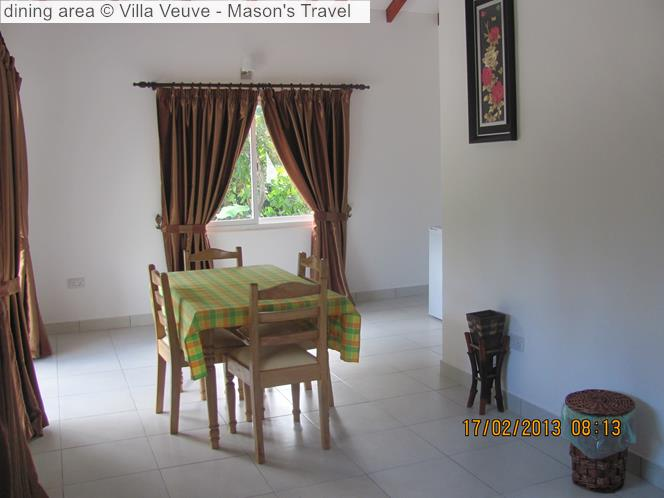 Dining Area © Villa Veuve Mason's Travel