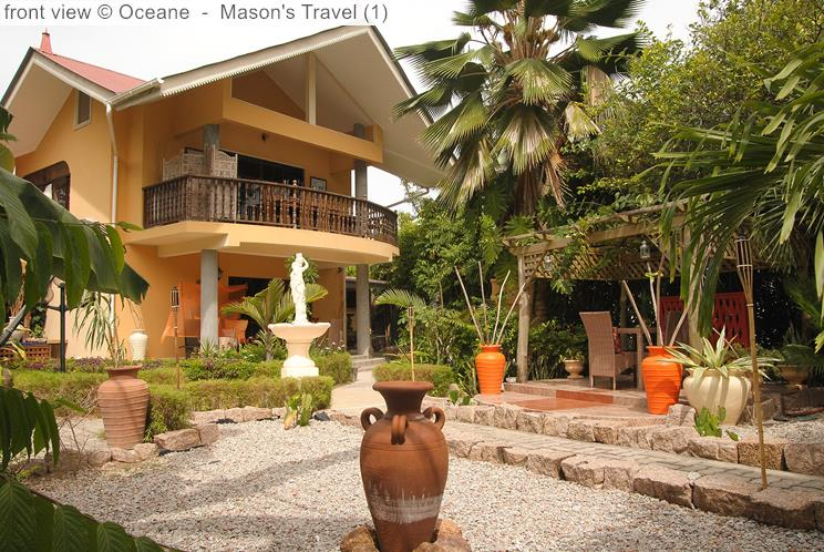 Front view Oceane self-catering (La Digue, Seychelles)