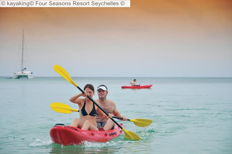 kayaking Four Seasons Resort Seychelles