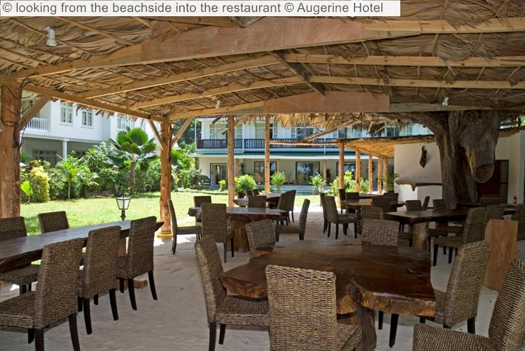 Looking From The Beachside Into The Restaurant © Augerine Hotel