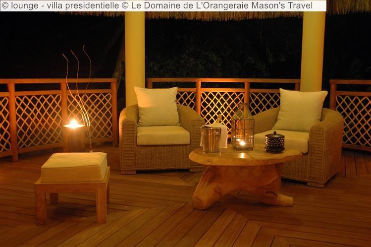 lounge villa presidentielle Le Domaine de LOrangeraie