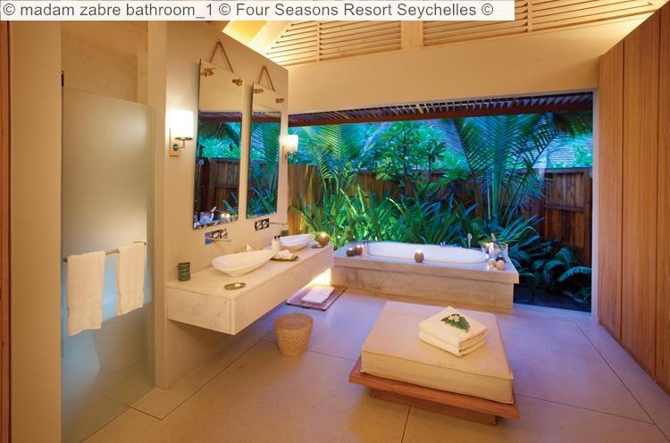 madam zabre bathroom Four Seasons Resort Seychelles