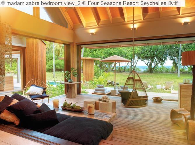 madam zabre bedroom view Four Seasons Resort Seychelles tif