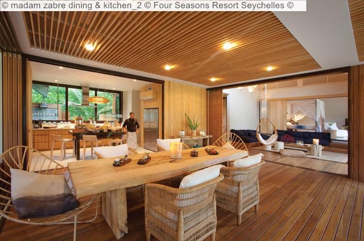 madam zabre dining kitchen Four Seasons Resort Seychelles