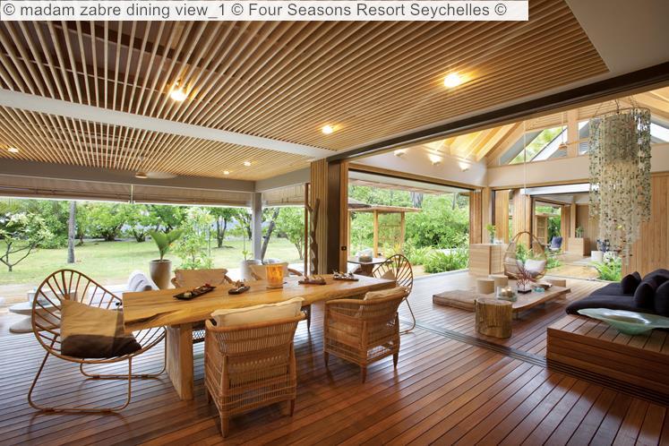 Madam Zabre Dining View © Four Seasons Resort Seychelles ©