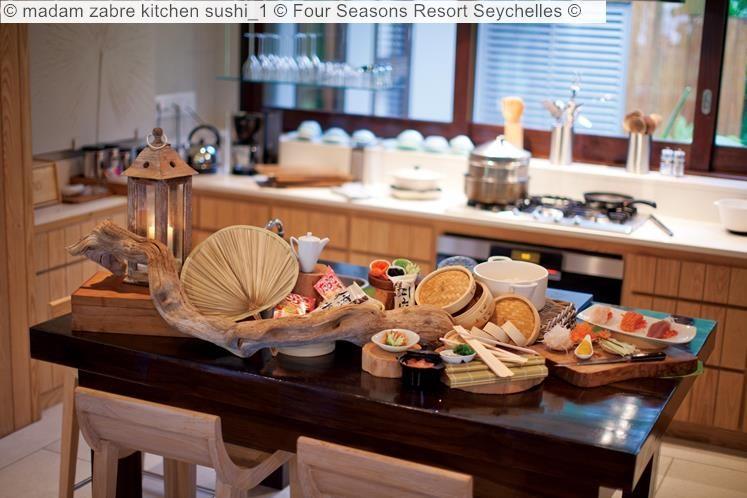 madam zabre kitchen sushi Four Seasons Resort Seychelles