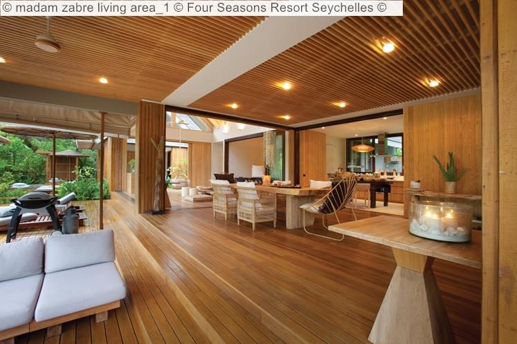 madam zabre living area Four Seasons Resort Seychelles