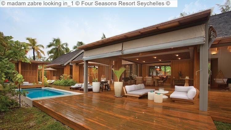 madam zabre looking in Four Seasons Resort Seychelles