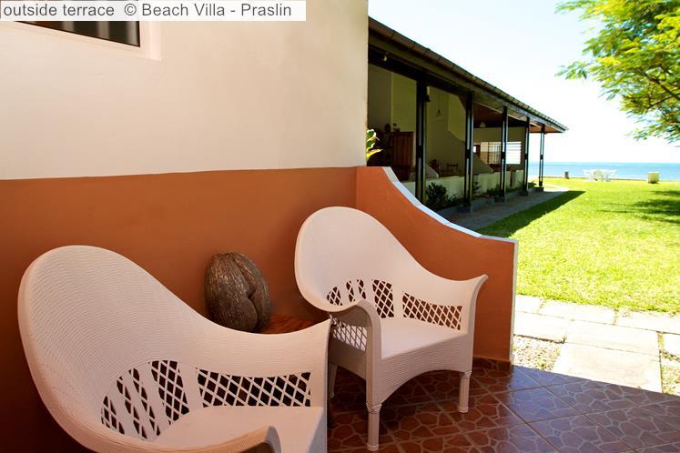 Outside Terrace © Beach Villa Praslin