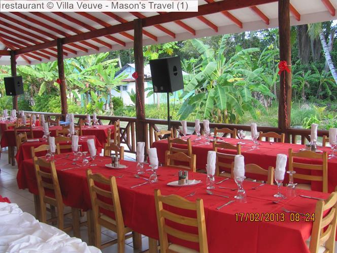 Restaurant © Villa Veuve Mason's Travel