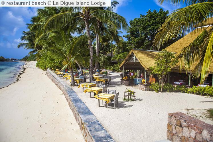 Restaurant Beach © La Digue Island Lodge