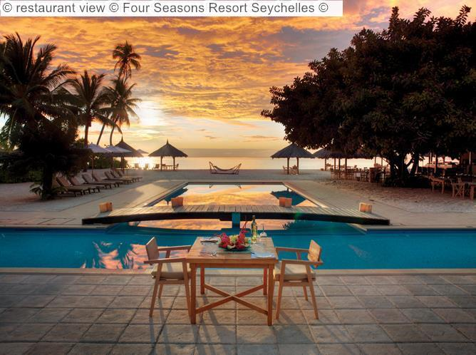 restaurant view Four Seasons Resort Seychelles