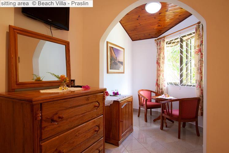 Sitting Area © Beach Villa Praslin