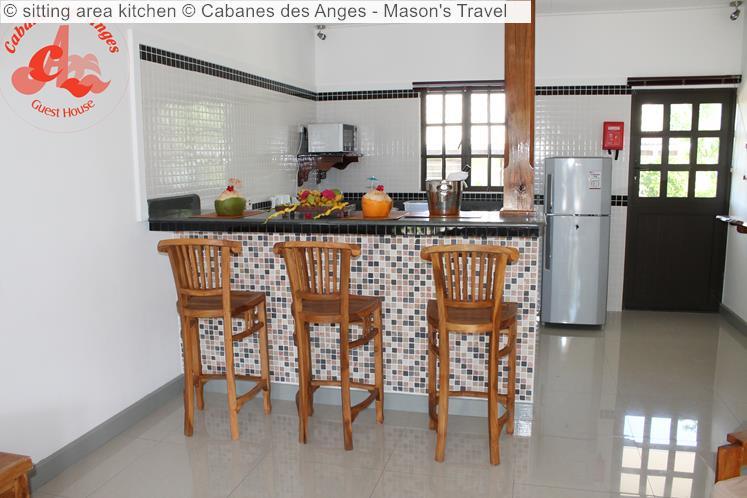 Sitting Area Kitchen © Cabanes Des Anges Mason's Travel