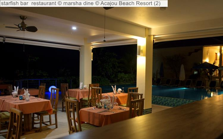 starfish bar restaurant   Acajou Beach Resort