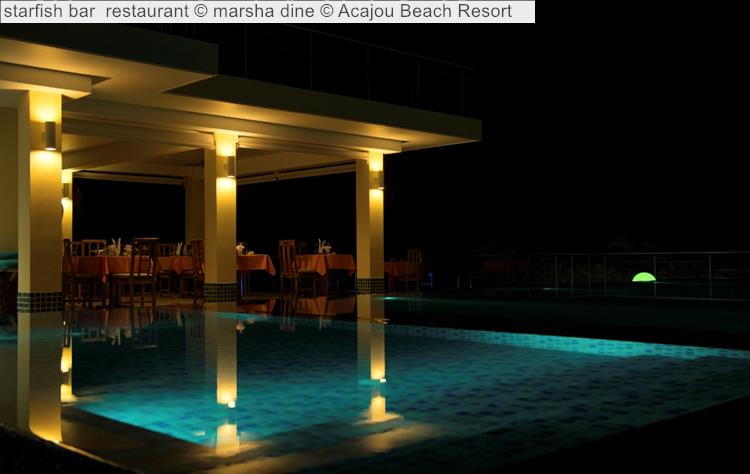 Starfish Bar & Restaurant © Acajou Beach Resort