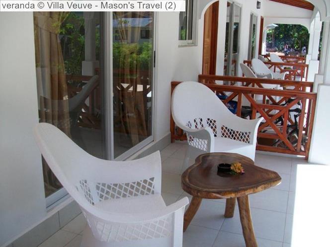 Veranda © Villa Veuve Mason's Travel