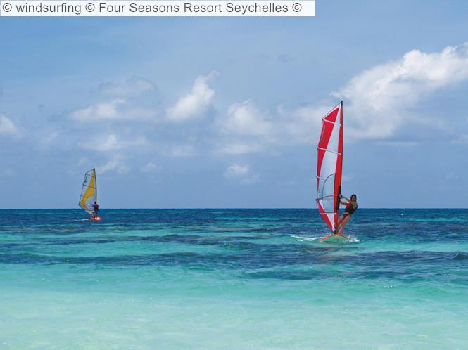 Windsurfing © Four Seasons Resort Seychelles ©