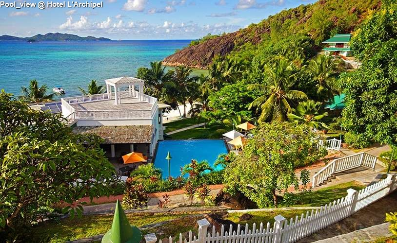 Pool view @ Hotel LArchipel