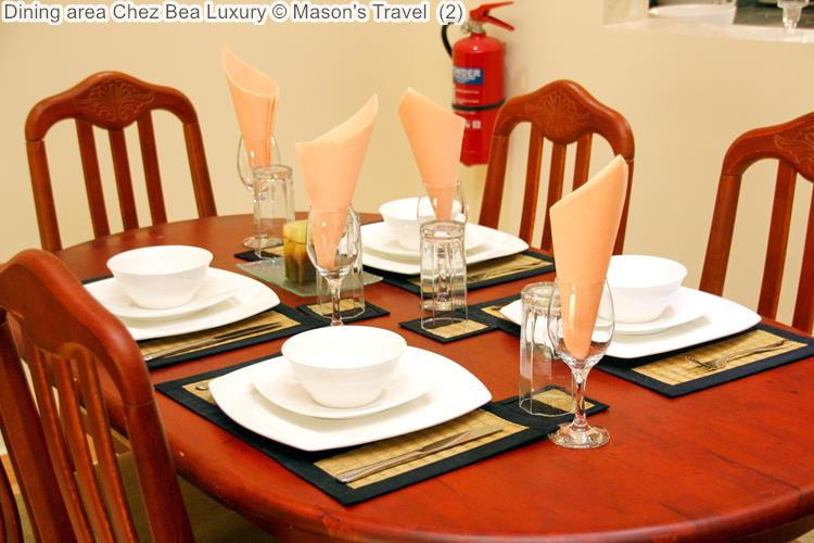 Dining area Chez Bea Luxury