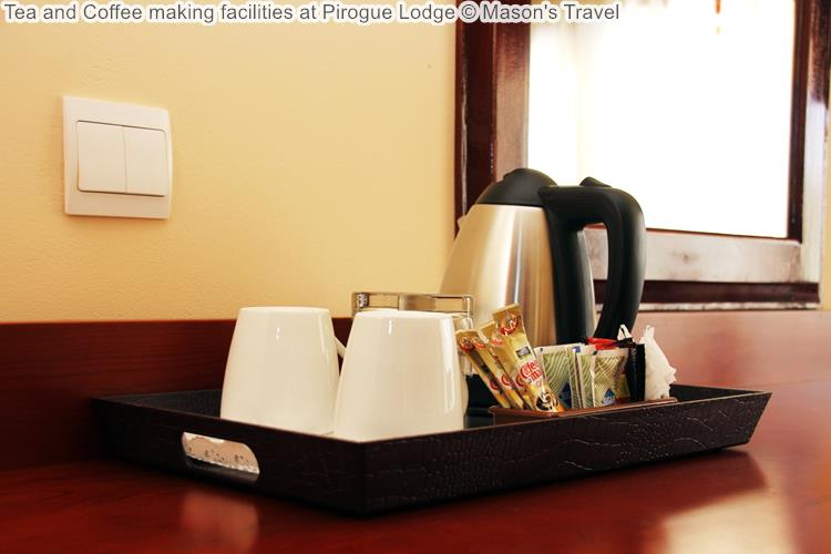 Tea and Coffee making facilities at Pirogue Lodge