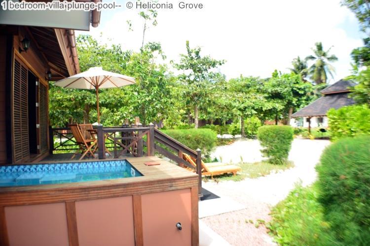bedroom villaplunge pool Heliconia Grove