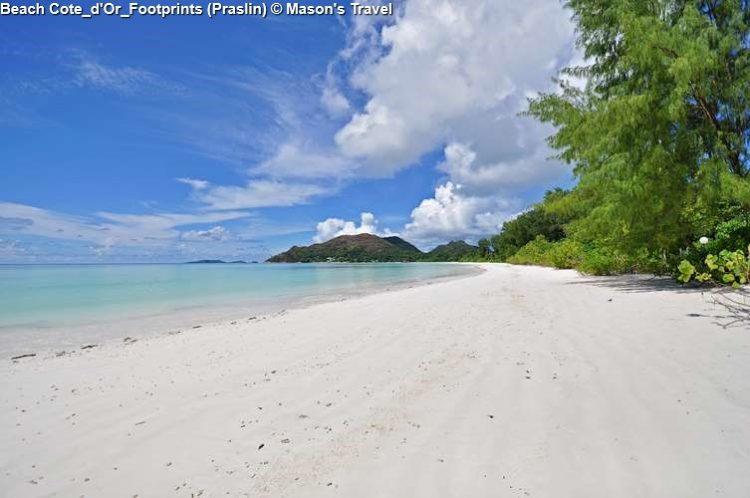 Beach Cote D'Or Footprints (Praslin) ©