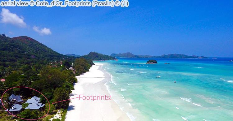 Aerial View © Cote D'Or Footprints (Praslin) ©