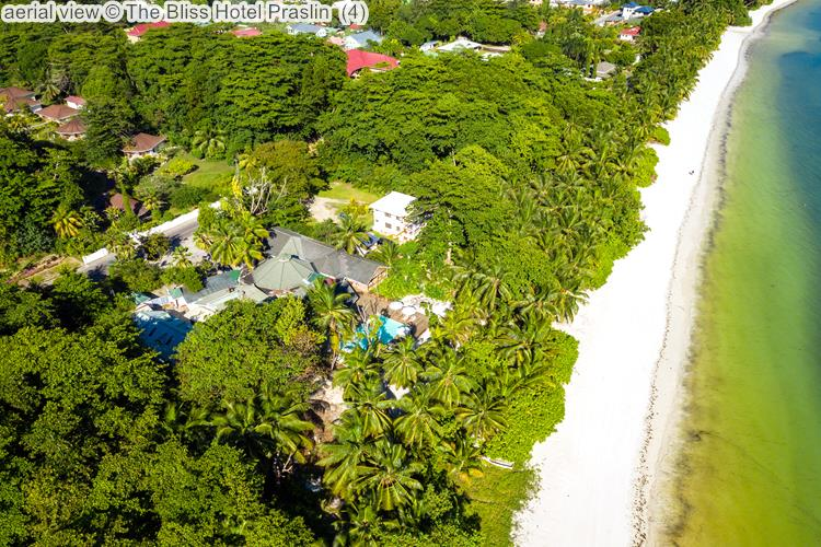 aerial view The Bliss Hotel Praslin