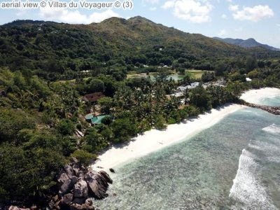 aerial view Villas du Voyageur