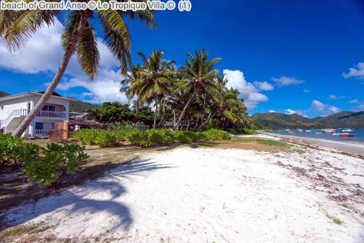 beach of Grand Anse Le Tropique Villa