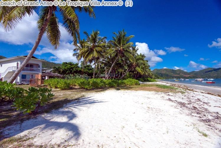 beach of Grand Anse Le Tropique Villa Annex