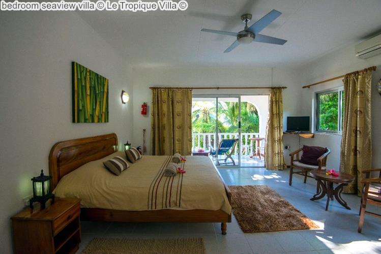 bedroom seaview villa Le Tropique Villa