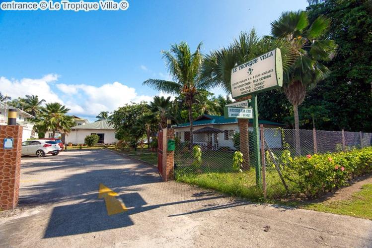 entrance Le Tropique Villa