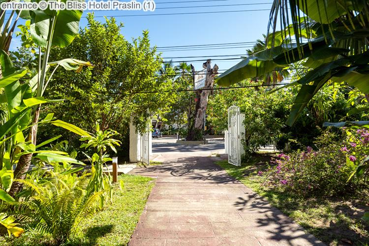 entrance The Bliss Hotel Praslin