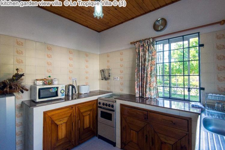 kitchen garden view villa Le Tropique Villa