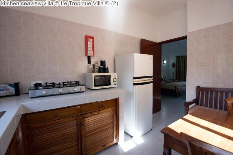 kitchen seaview villa Le Tropique Villa