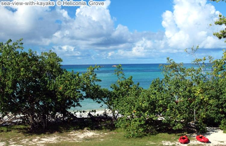 sea view with kayaks Heliconia Grove